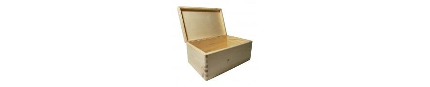 Skrzynki i pudełka drewniane